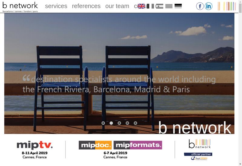 Capture d'écran du site de B Network