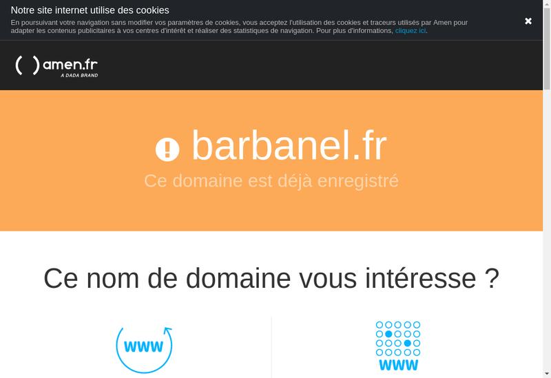 Capture d'écran du site de Barbanel