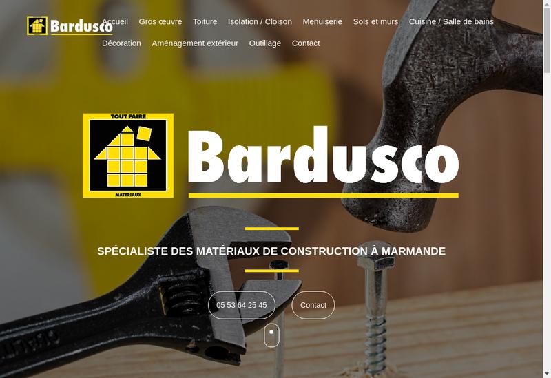 Capture d'écran du site de Etablissements Bardusco