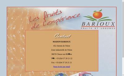 Site internet de Maison Barioux SA