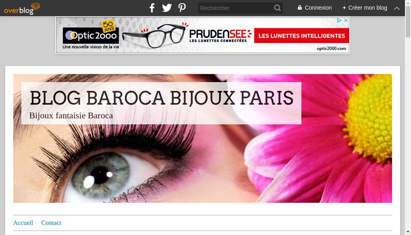 Capture d'écran du site de Baroca