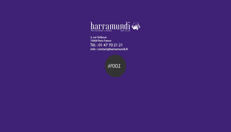 Capture d'écran du site de Le Barramundi