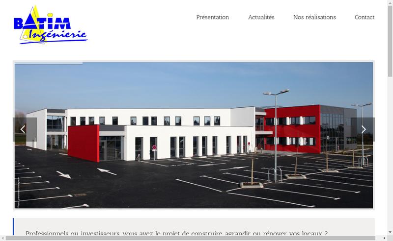 Capture d'écran du site de Batim Ingenierie