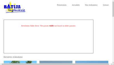 Site internet de Batim Ingenierie