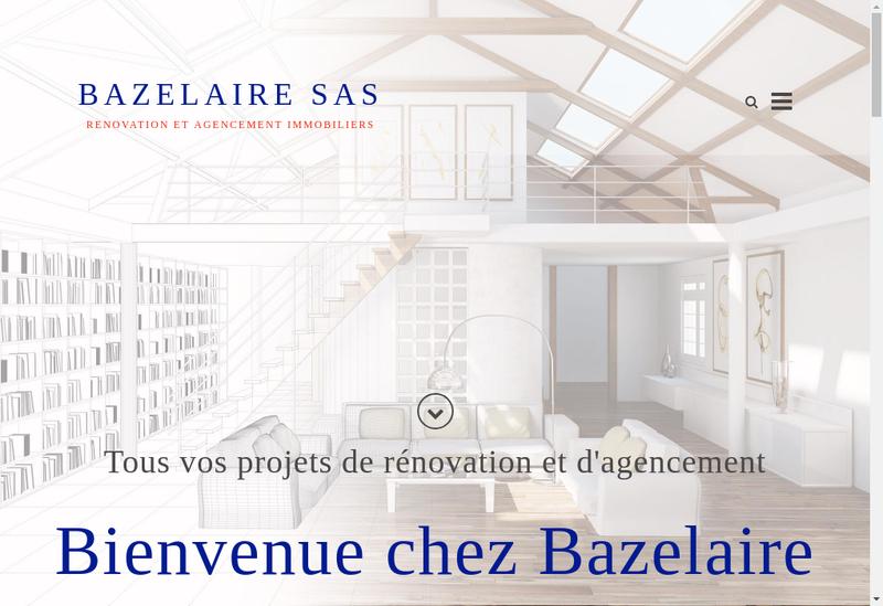 Capture d'écran du site de Bazelaire