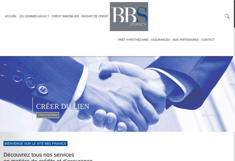 Capture d'écran du site de Bbs Finance