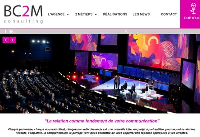 Capture d'écran du site de Bc2M Consulting