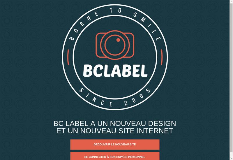 Capture d'écran du site de Bc Label