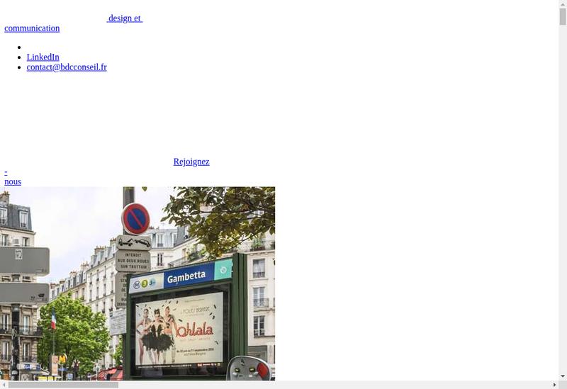Capture d'écran du site de Bdc Conseil