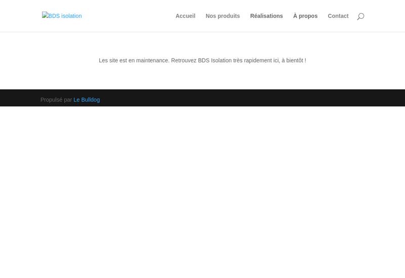 Site internet de Bds Isolation