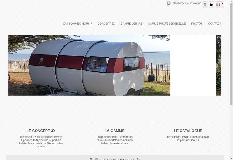 Capture d'écran du site de Beauer