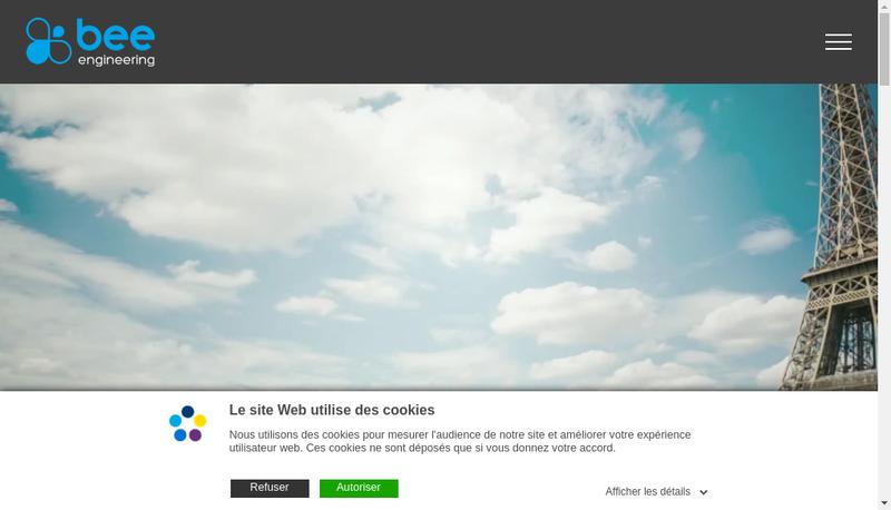 Capture d'écran du site de Bee Engineering