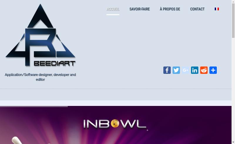 Capture d'écran du site de Beediart