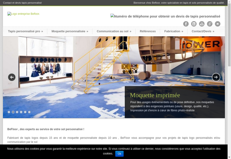 Capture d'écran du site de Be Floor
