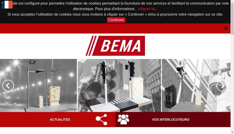 Capture d'écran du site de BEMA