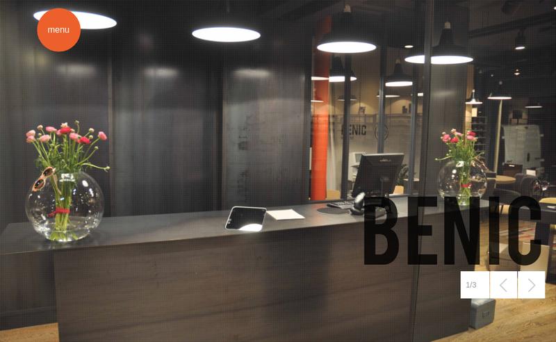 Capture d'écran du site de Optique Benic