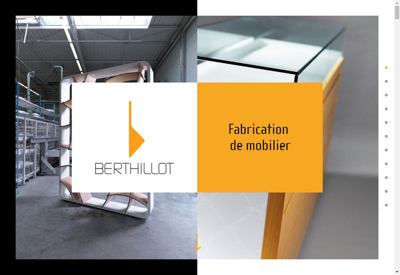Capture d'écran du site de Berthillot