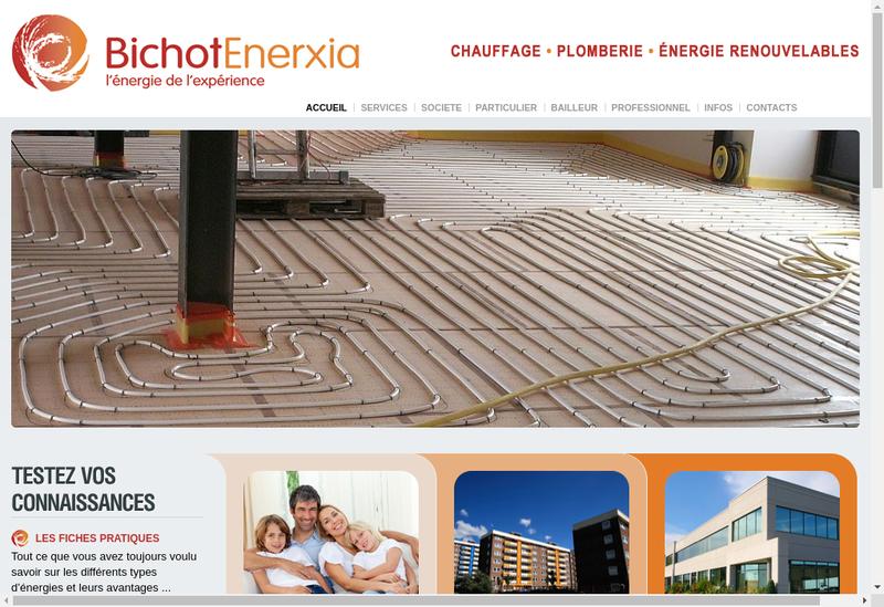 Capture d'écran du site de Entreprise Bichot
