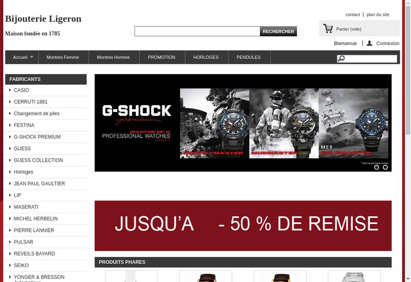 Capture d'écran du site de Ligeron