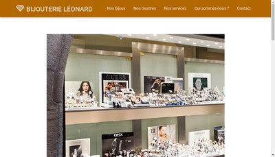Site internet de SARL Bijouterie Leonard