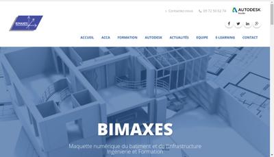 Capture d'écran du site de Bimaxes