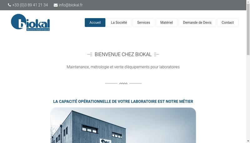 Capture d'écran du site de Biokal