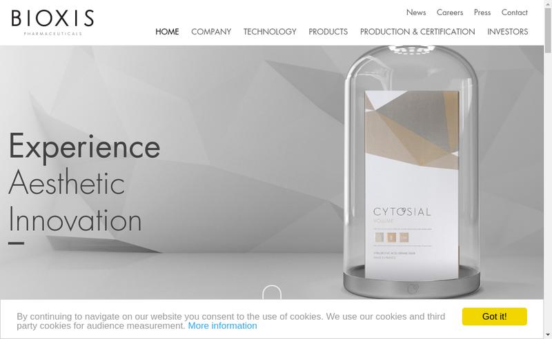 Capture d'écran du site de Cytosial Biomedic