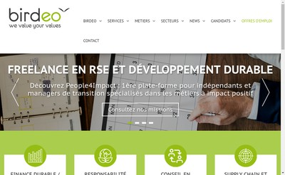 Site internet de Birdeo