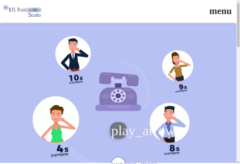 Capture d'écran du site de Bjs Performance
