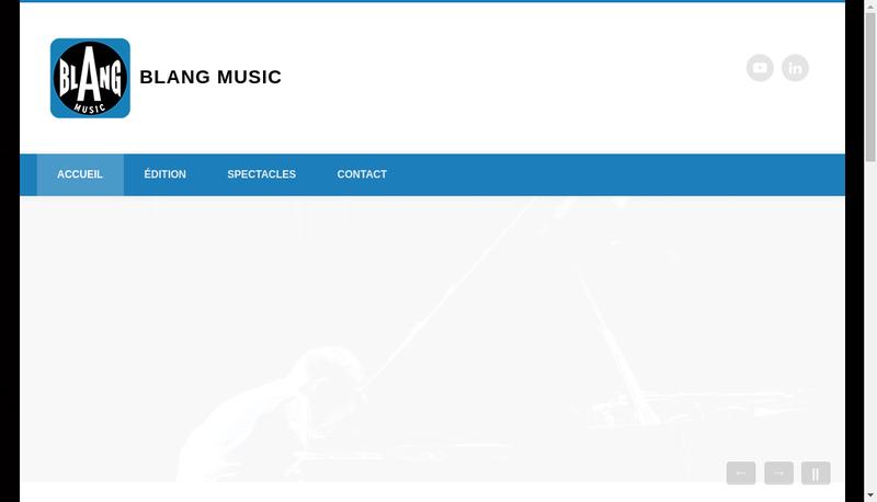 Capture d'écran du site de Blang Music
