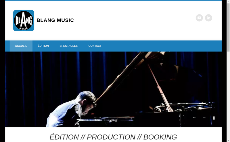 Capture d'écran du site de Blang Music