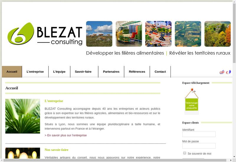Capture d'écran du site de Blezat Consulting