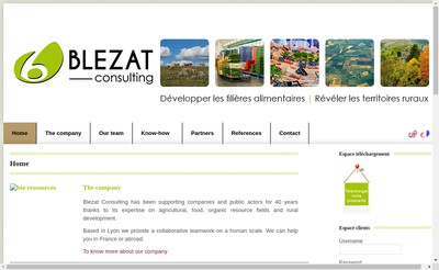 Site internet de Blezat Consulting