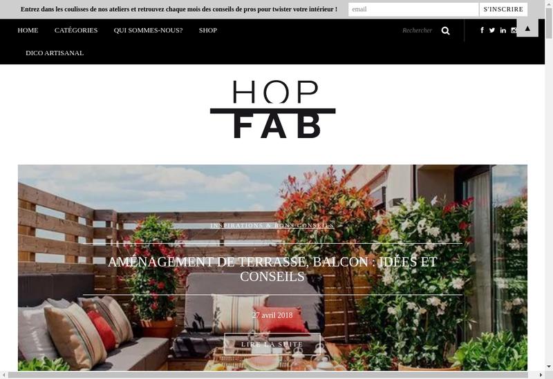 Capture d'écran du site de Hopfab