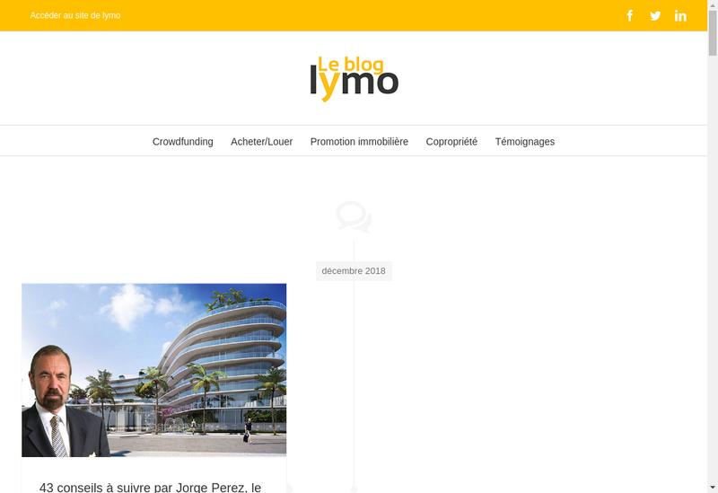 Capture d'écran du site de LYMO