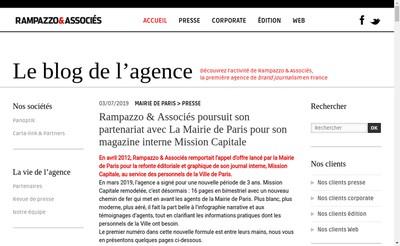 Site internet de Rampazzo & Associes