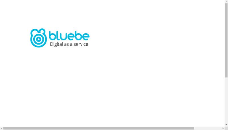 Capture d'écran du site de Bluebe