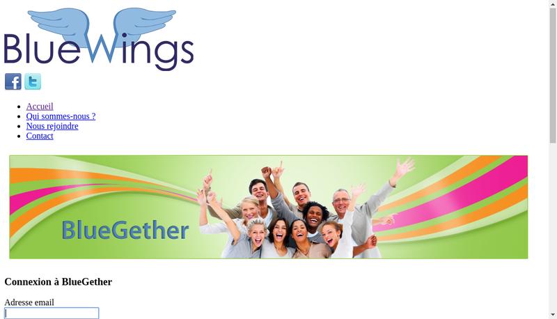 Capture d'écran du site de Bluewings