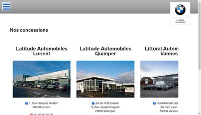 Capture d'écran du site de Littoral Automobiles