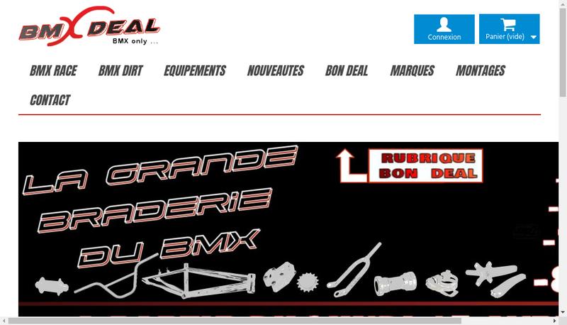Capture d'écran du site de Bmx Deal