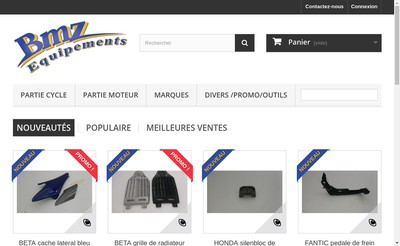 Site internet de Bmz Equipements