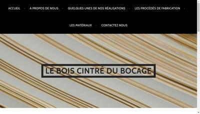 Capture d'écran du site de Le Bois Cintre du Bocage