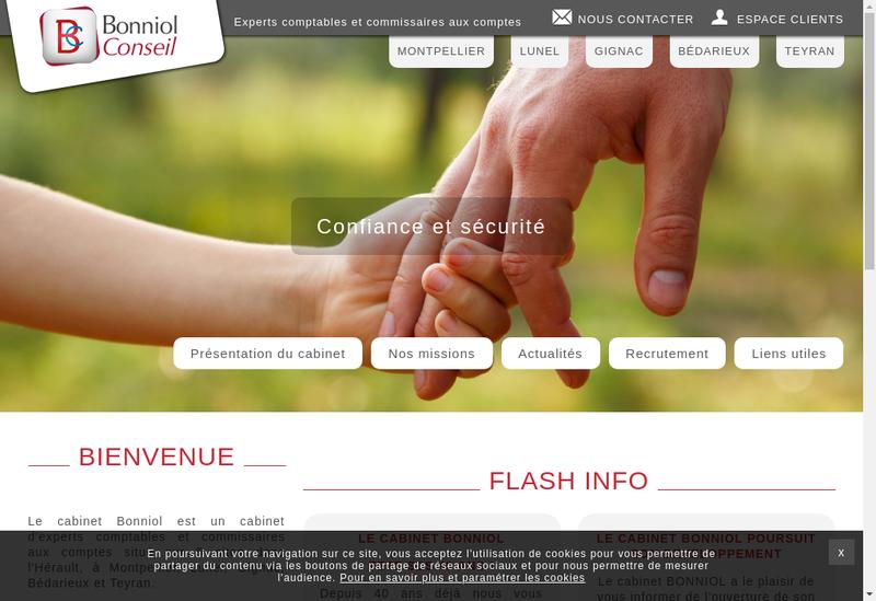 Capture d'écran du site de Bonniol et Associes