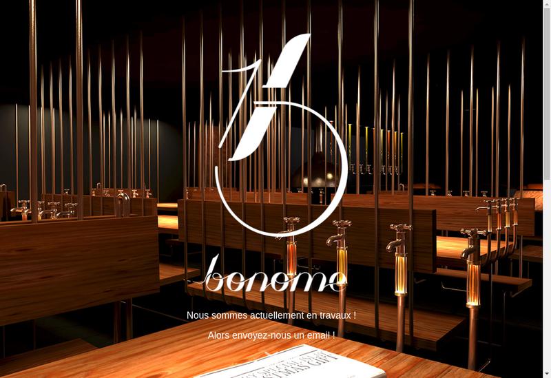 Capture d'écran du site de Bonome