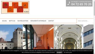Site internet de Botta SAS