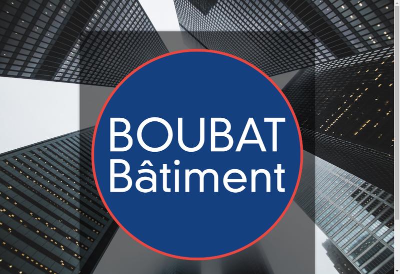 Capture d'écran du site de Boubat SARL