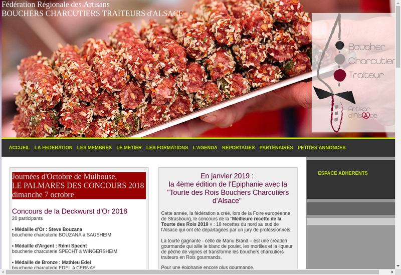 Capture d'écran du site de Boucherie Charcuterie Traiteur Herrman