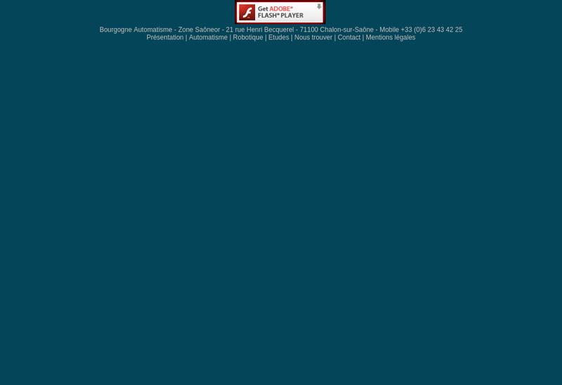 Capture d'écran du site de Bourgogne Automatisme