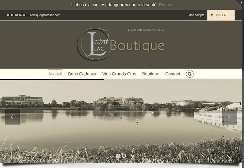 Capture d'écran du site de Cote Lac