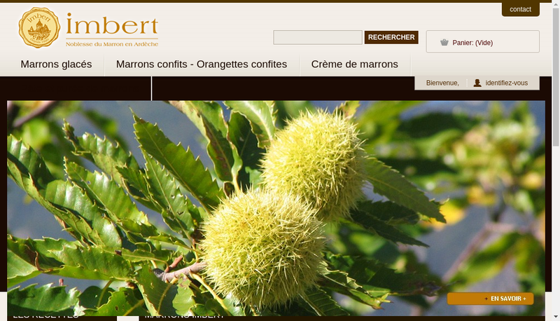 Capture d'écran du site de Marrons Imbert